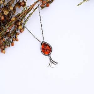 Small Amber Swing Necklace