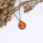 Small Amber Layer Necklace