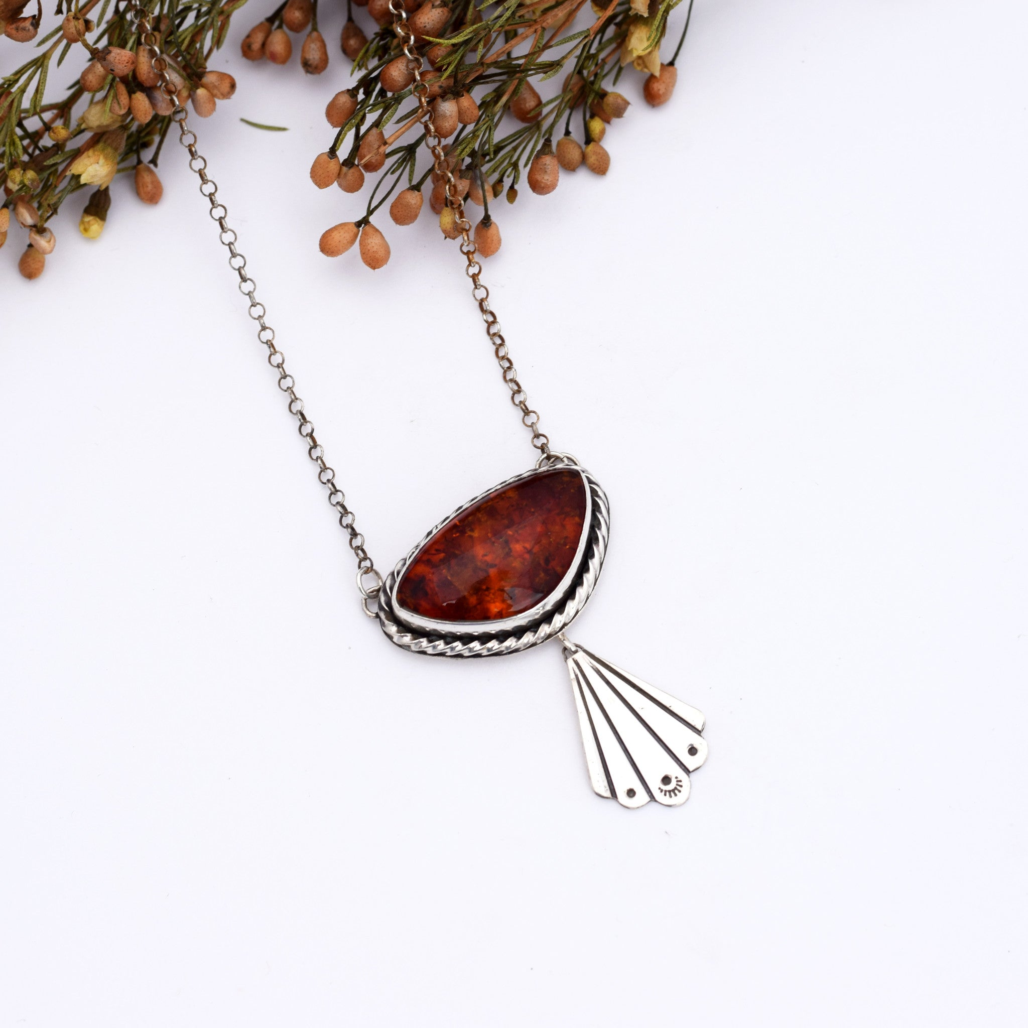 Large Amber Swing Necklace