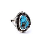 "'Welchie"" Kingman Turquoise Ring : Size 7.5"