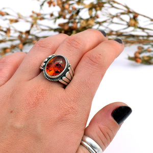 Amber Warrior Ring : Size 8.5