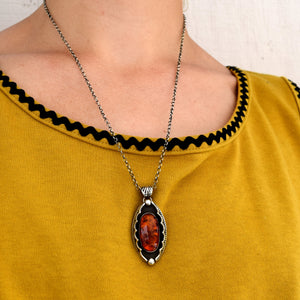 Amber Shadowbox Necklace