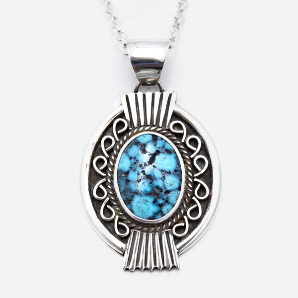 'Margaret' Webbed Kingman Turquoise Necklace