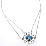 'Rose' Webbed Kingman Turquoise Necklace