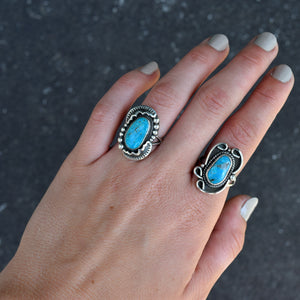 'Molly' Kingman Turquoise Ring : Size 7