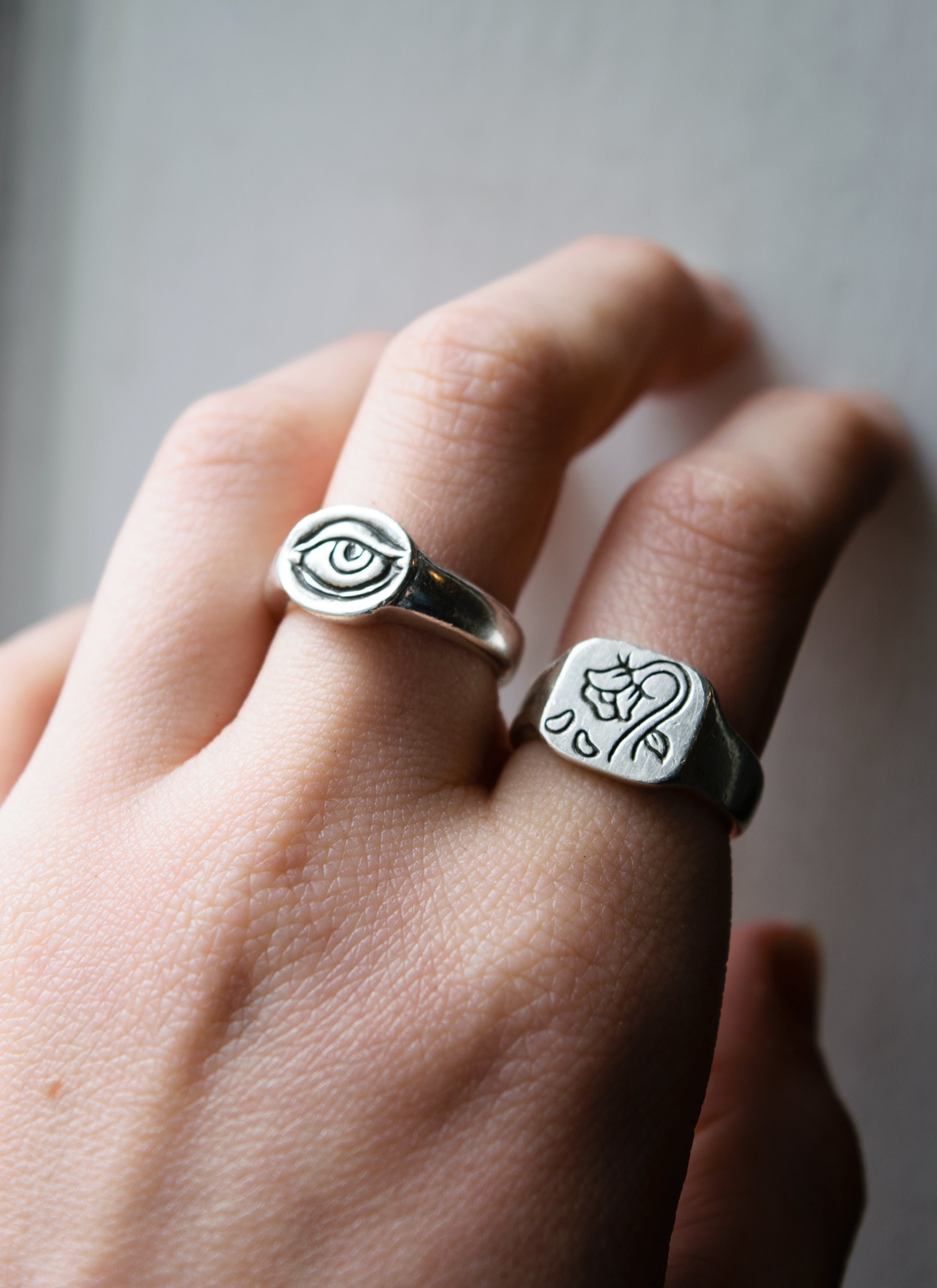 Bittersweet Rose Signet Ring
