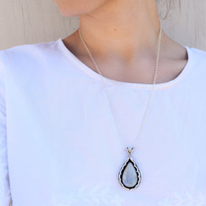 Shadowbox Moonstone Necklace