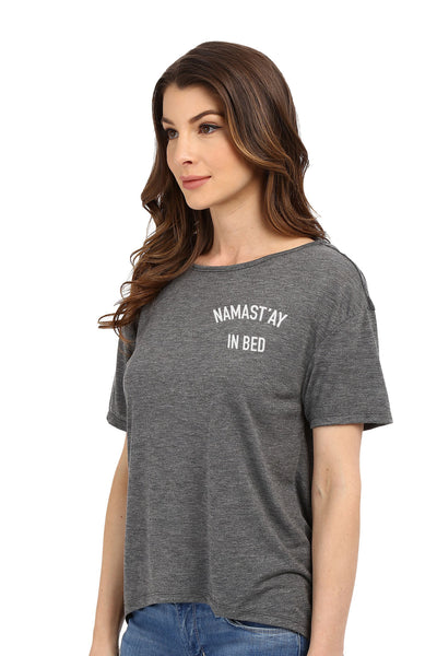 Namast'ay in Bed Open Back Tee | Koalani Apparel