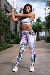 Purple Rose Sports Bra | Yoga & Fitness Activewear | Koalani Apparel
