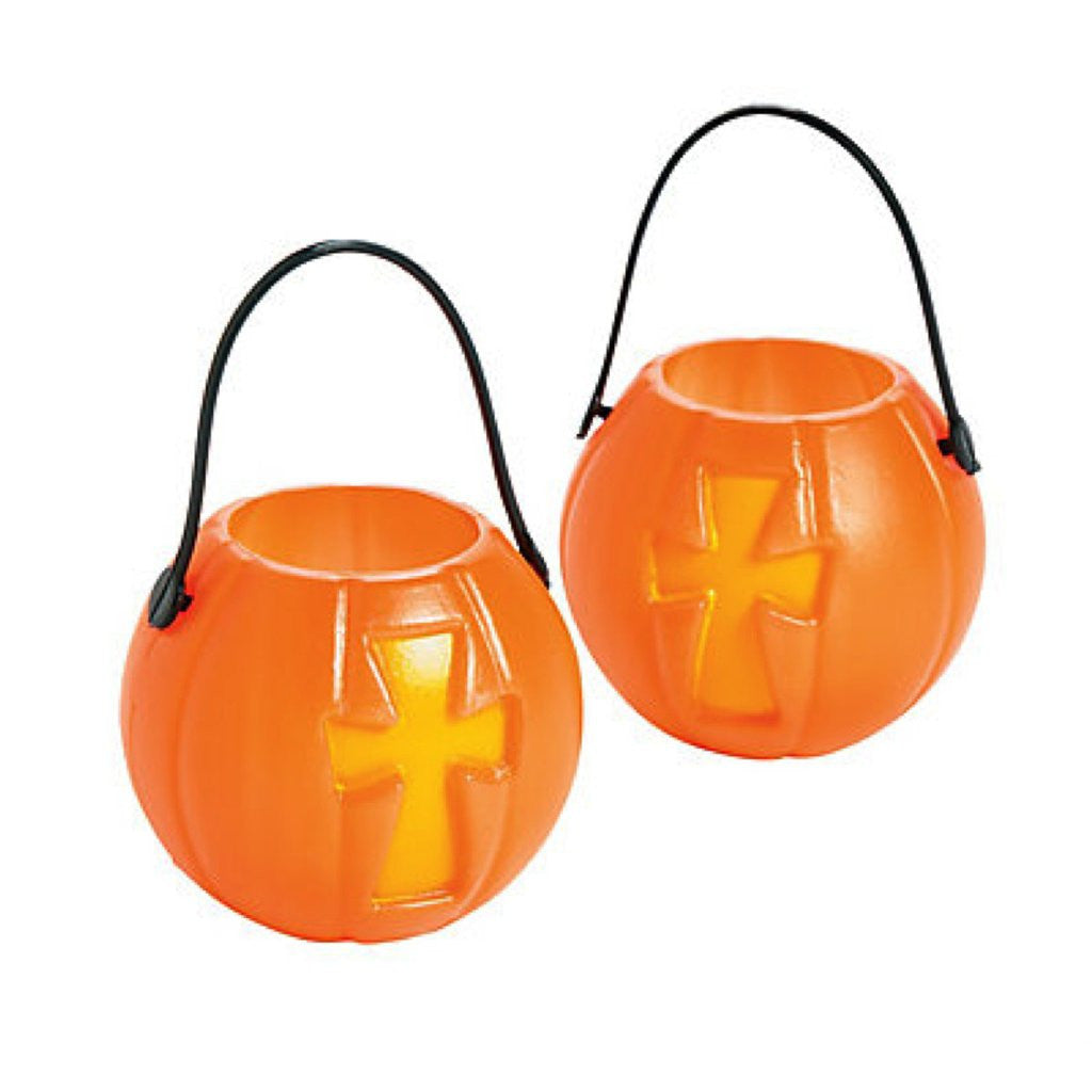 Halloween Christian Mini Pumpkin Buckets
