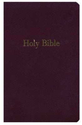 Burgundy NKJV Giant Print Personal Size Reference Bible imitation leather