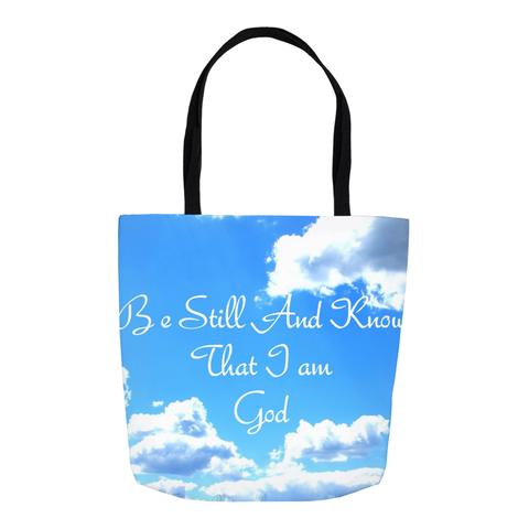 Be Still And Know That I Am God Christian Tote Bag For Women
