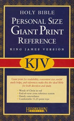 Black KJV Personal Reference Bible Giant Print Imit Leather