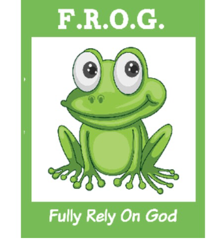 "Fully Rely On God Frog Activity Bible Tracts 4"" by 5.5"" (100 Pack )"