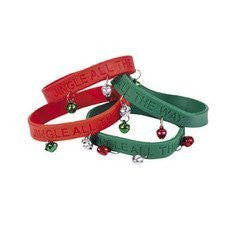 24 Jingle Bell Rubber Bracelets