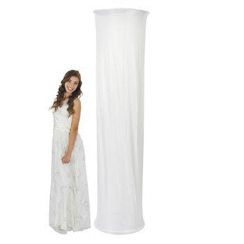 White Fabric Column Slip - Party Decorations & Arches & Columns
