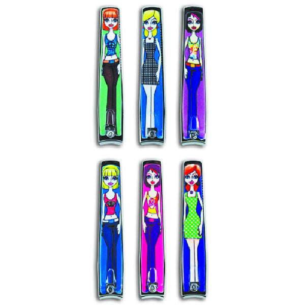 Cool Hip Girl Nail Clippers 12 Pack