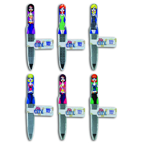 Cool Hip Girl Nail Files 12 Pack