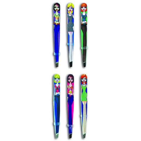 Cool Hip Girl Tweezers 12 Pack