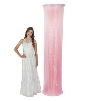 Light-Up Light Pink Fabric Column - Solid Color Party Supplies & Solid Color Party Decorations