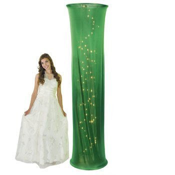 Light-Up Green Fabric Column - Solid Color Party Supplies & Solid Color Party Decorations