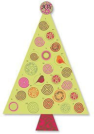 Swirl Tree Advent Calendar Pack Of 6