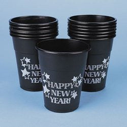 Plastic Happy New Year Cups 50pc by Holiday Fun