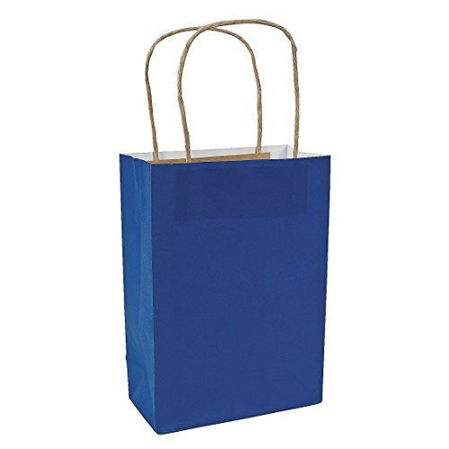 Navy Blue Medium Craft Paper Bag - 1 Piece