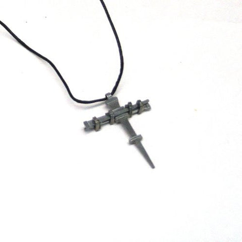 Single Nail Cross Necklace