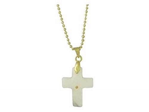 Necklace-Mustard Seed-Cross-Gold 18 Ball Chain