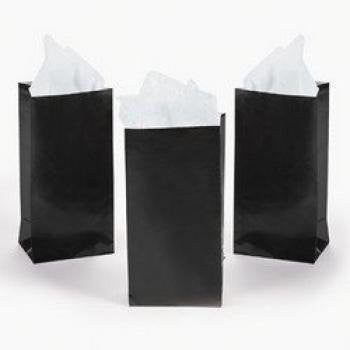 MINI BLACK PAPER TREAT BAGS (2 DOZEN) - BULK