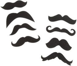 Black Glitter Moustache Stickers (Sold by 1 pack of 42 items) PROD-ID : 1905121