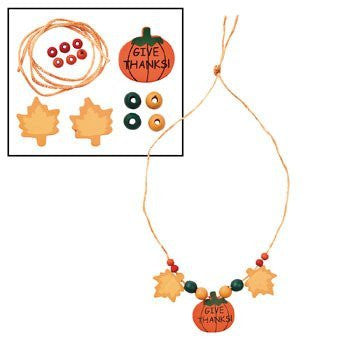 Beaded Thanksgiving Necklace Craft Kit - Crafts for Kids & Jewelry Crafts