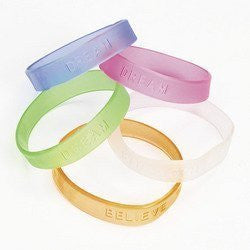 Rubber Jelly Sayings Bracelet (2 dozen) - Bulk [Toy]