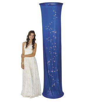 Light-Up Blue Fabric Column - Solid Color Party Supplies & Solid Color Party Decorations