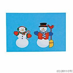 12 pk - Create Your Own Snowman Actvity Sticker Sheets