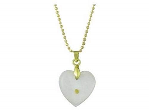 Necklace-Mustard Seed-Heart-Gold 18 Ball Chain