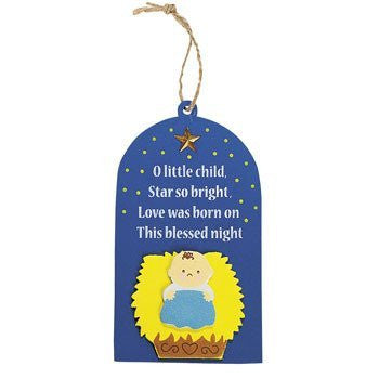 O Little Child Shining Star Ornament Craft Kit - Religious Crafts & Ornament Crafts