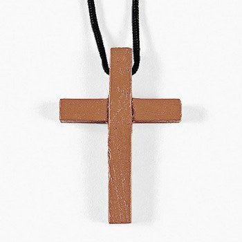 72 Wooden Cross Necklaces