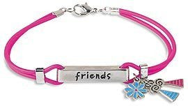 Friend Charm Bracelet Friends are the Family We Choose Deb Eiseman Silicone Pack of 6