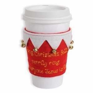 Enesco Reason to Rejoice Christmas Bells Cup Sleeve by Gregg Gift, 3.5-Inch