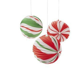 12 Paper Peppermint Candy Balloon Lanterns