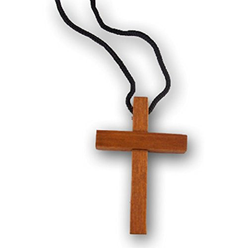 Wooden Cross Necklaces (Pack of 12)