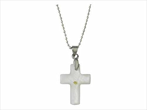 Swanson Christian Supply 55472 Necklace Mustard Seed Cross Silver 18 In. Ball Chain