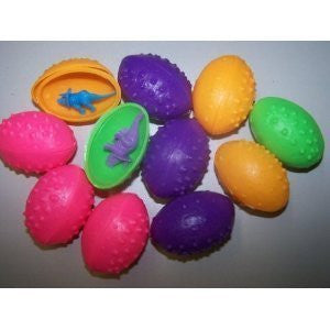 6 Dz Dinosaurs Eggs with Mini toy Dinosaur figures Inside - 72 Per Order