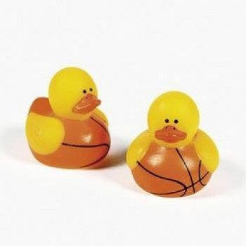 Mini Basketball Rubber Duck (6 dozen) - Bulk