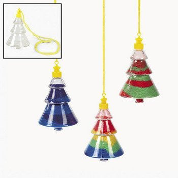 Christmas Tree Sand Art Necklaces - Crafts for Kids & Sand Art
