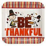 Peanuts Thanksgiving Dinner Paper Plates (Pack of 8)