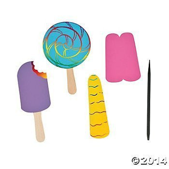 Magic Color Scratch Frozen Treat Shapes with Sticks