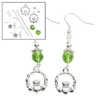 Claddagh Beaded Earrings Kit - Adult Crafts & Jewelry Crafts